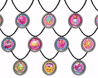 12x Shopkins Party Favor Necklaces