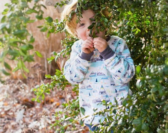 Organic Jumper: Organic Sweater, Organic Sweatshirt, Baby Sweater, Organic Baby Clothes, Toddler Jumper, Tipi Jumper, Teepee Sweater, Wigwam