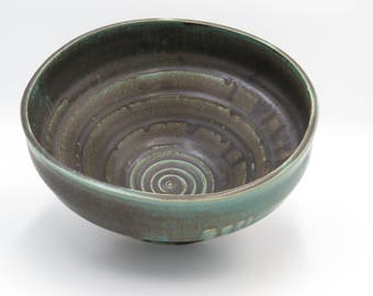 Green Swirl Bowl