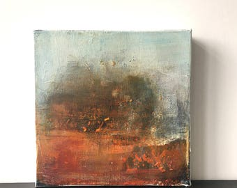 BURNISH.. abstract art, abstract painting, art, canvas art, contemporary art, painting,atmospheric, small painting,wall art, malorymaki