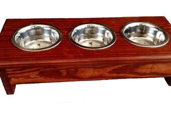 Pet Feeder  -  3 Bowls