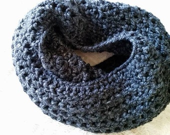 Charcoal Eternity Scarf - Wool