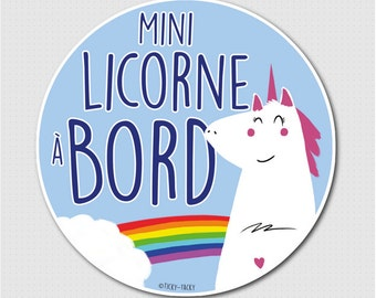 Stickers for car - baby on board / Mini Unicorn