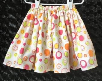 2T Gathered Skirt - Girls Twirly Skirt - Girls Lined Skirt - Little Girls Cotton Skirt - Toddler Skirt - Fully Gathered Skirt - Skirt