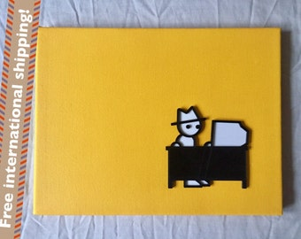 "Zero Punctuation Ben ""Yahtzee"" Croshaw 3D canvas"