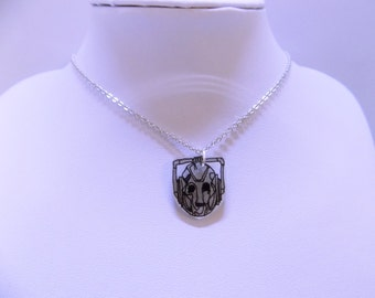 Hand Drawn Handles Cybermen Doctor Who Necklace