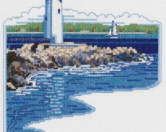 White Lighthouse - Counted Cross Stitch Kit # 023-0599 - Janlynn