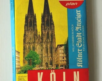 Falk city map of Cologne folding plan 1985 / / prop / / Street Guide / / City Guide / / prop / / gift / / nostalgia / / fun