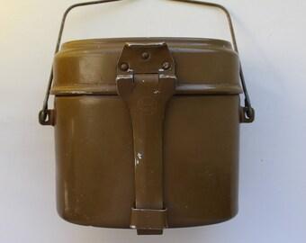 Soviet Military Bowler, Vintage Bowler, Military Soldier Bowler, Soviet Military pot, Soviet Military kettle, Military pan,Military saucepan