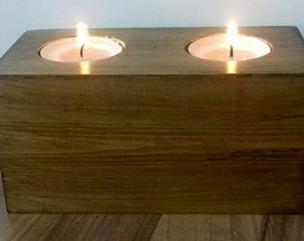 Rustic candle holder, Rustic block tealight holder, wooden candle holder, Rustic home gift, new home gift, wooden decor, wooden ornament