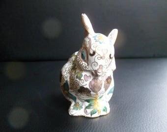 Faberge Cloisonne Rabbit