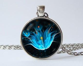 Lotus necklace Lotus pendant Lotus flower Flower necklace Lotus jewelry Flower pendant Art jewelry Art pendant Art necklace Floral jewellery