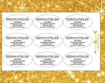 9 Glossy Custom Rodan + Fields Oval Stickers