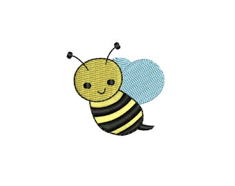 Cute Mini Honey Bee machine embroidery design. 3 sizes. Instant download