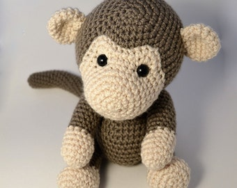 Monkey amigurumi crochet toy