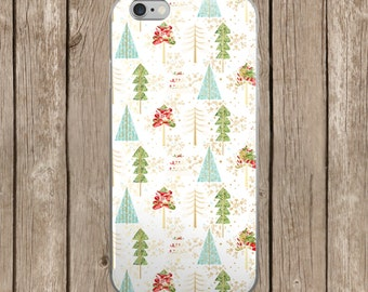 iPhone 5/5s/SE   iPhone 6/6s   iPhone 6 Plus/6s Plus   White Christmas Trees Pattern iPhone Case