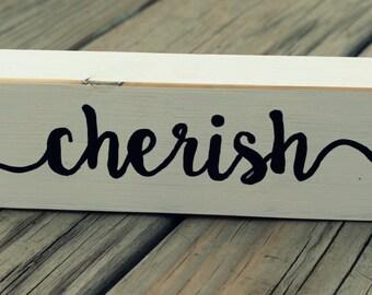 Shelf Sitter, Black & White, Cherish, Country, Farmhouse