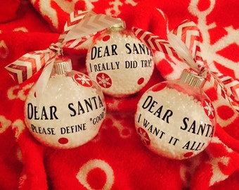 Dear Santa Ornaments!