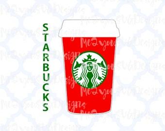 Starbucks Christmas Coffee Cup SVG,EPS,PNG,Studio