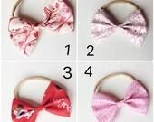 Valentines bow headband
