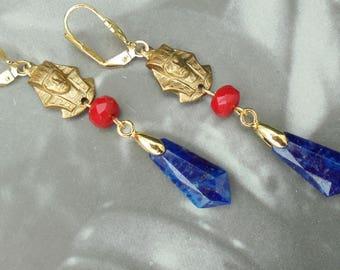 Egyptian Revival  Art Deco - Art Nouveau - Bridal - Earrings