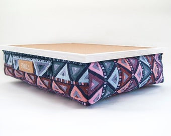 Laptop Tray With Cushion/ Laptop Desk / Serving Tray /  Laptop Table For Bed / Laptop Tray For Apple / Ergonomic Lap Desk / IPad Table