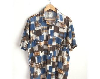 1950s Kmart Shirt, Men's Vintage Shirt, Vintage Spring Shirt, Vintage Summer Shirt