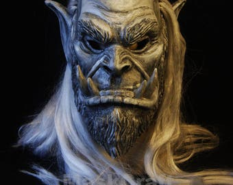 Trall Mask with hairs from Warcraft original game  by Maskcraft