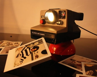 Table lamp camera Polaroid Land Camera 500