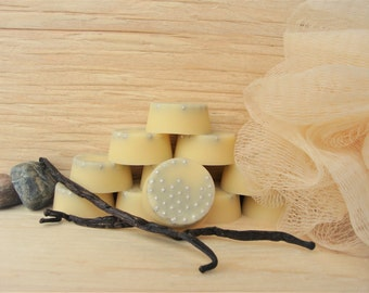 Tahitian Vanilla Bath Melts: Melting bath oil, soft skin, melting oil disc, oil bath, bath beads, organic bath melt, wedding favours