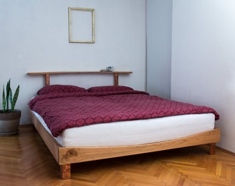 bed bed frame wooden bed wood bed cherry bed queen size - Wood Bed Frame King