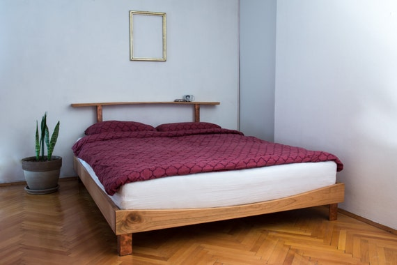 bed bed frame wooden bed wood bed cherry bed queen size