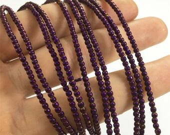 2mm Purple Hematite Beads,Round Beads,Hematite Jewelry