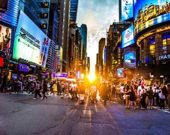 Manhattanhenge from 42 Street HD Print