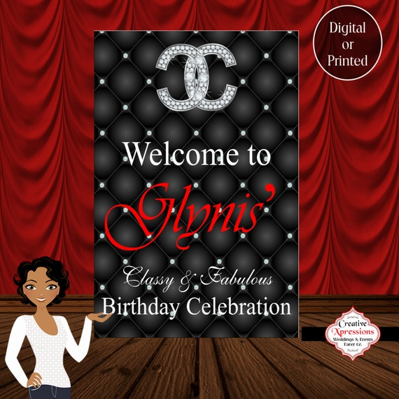 Items Similar To Classy And Fabulous Birthday Sign, 18th