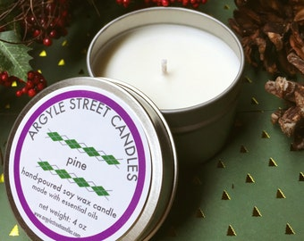 Soy Candle Essential Oil Pine Tin Container Candle Handmade