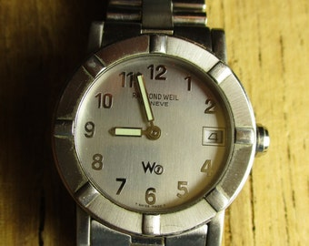 Raymond Weil Geneve 3000 Stainless Steel Water Resistant to 50 meters Sapphire Crystal Wrist Watch/ Self-Winding Mechanical Watch