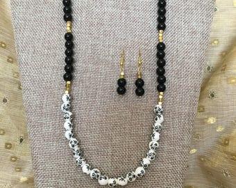 Ceramic flower bead set