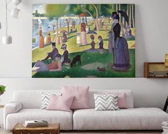 Pointillism, A Sunday Afternoon, Georges-Pierre Seurat, Island of La Grande Jatte, Landscape Painting, Landscape Art, 214