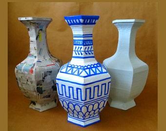 Tutorial cardboard Vase