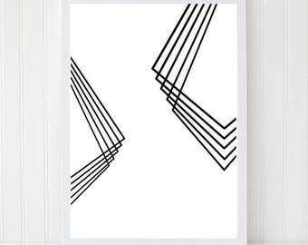 Minimalist Poster, Scandinavian Art, Minimalist Decor, Scandinavian Wall Art, Minimalist Art, Abstract Black Art, Abstract Poster, Black Art