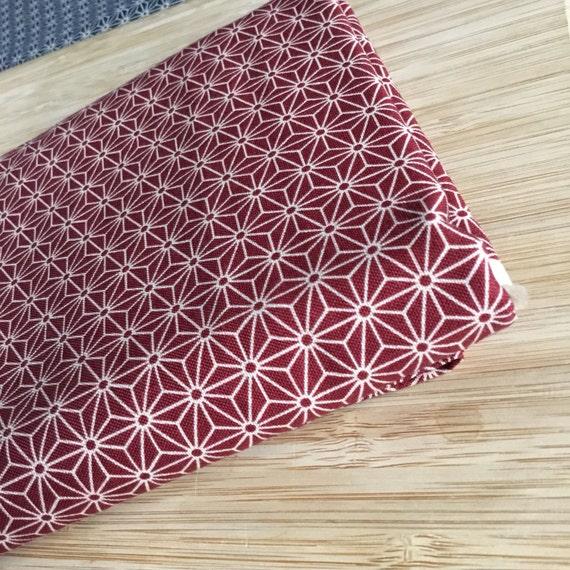 Furoshiki Gift Wrapping Cloth - Japanese Cotton Furoshiki - Crimson Asanoha Design by Kendo Girl ~ Sevenberry Fabric ~