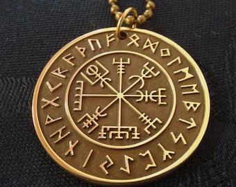 Vegvisir pendant, viking amulet, viking jewelry, vegvisir necklace, viking compass, pagan necklace, nordic