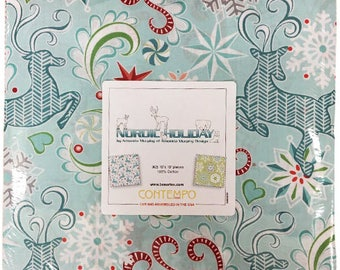 "Nordic Holiday by Amanda Murphy of Amanda Murphy Design for Contempo in Association with Benartex - (42) 10"" x 10"" Pack"