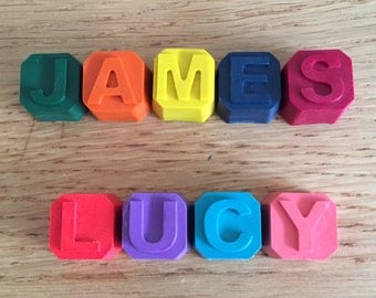 Mini crayon names party favours and gifts