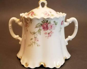 Antique Haviland & Co. Limoges Sugar Bowl - France - Circa 1891-1921