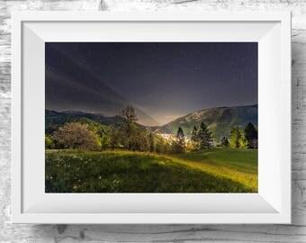 NIGHT SKY Printable Wall Art, Art Prints, Home Decor, Wall Art, Printable Posters, Printable Art, Rustic Home Decor, Photography