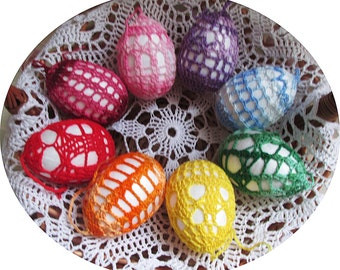 Easter decorations, Crochet Easter Eggs