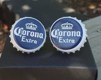 Corona Extra Beer Bottle cap Cufflinks set