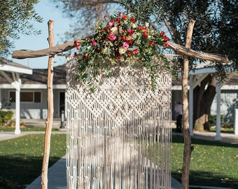 Macrame Wedding Backdrop, Macrame Backdrop, Macrame wall hanging, Large wall hanging